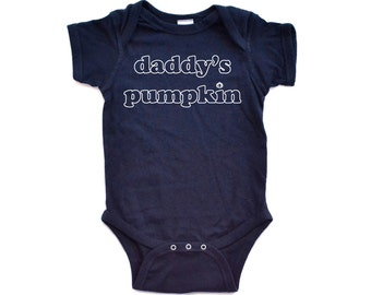 "Apericots Cute ""Daddy's Pumpkin"" Fun Halloween Unisex Soft Cotton Baby Creeper"