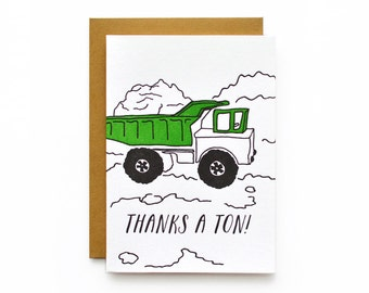 Thanks a Ton - letterpress card