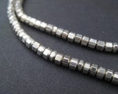 230 Faceted Silver Beads - 2x4mm Metal Prism Beads - Small Spacer Beads - Metal Spacers Wholesale Jewelry Making Supplies (MET-UNU-SLV-149)
