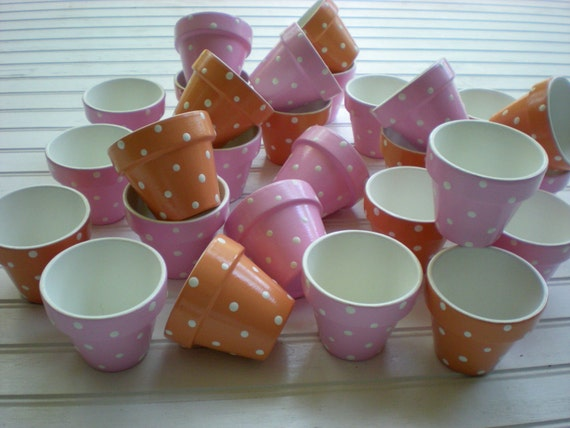 Baby Shower Favors Flowers ~ Baby shower favors painted flower pots small