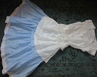 ALICE in wonderland fantasy dress dorthy apron Halloween  COSTUME womens size 5/6 unique