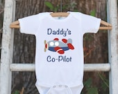 Airplane Bodysuit - Daddy's Co-Pilot Bodysuit Makes a Great Baby Shower Gift for a New Baby Boy - Plane Onepiece Outfit for New Baby Boy