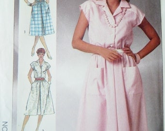 Sewing Pattern Misses Dress Uncut Vintage 1980s Women Dress Simplicity 7475