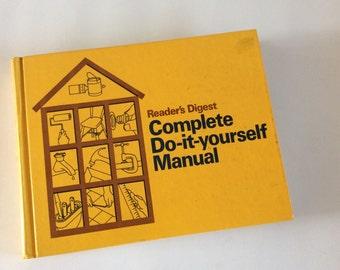Do It Yourself Manual Book 1970s Home Manual, Woodworking Book, Home Repair Book,Vintage Home Repair, Carpentry Book, Plumbing Book