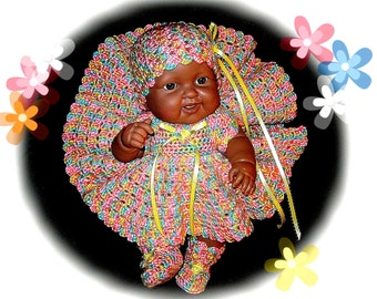 doll clothes; crochet doll clothes; crochet doll dress; crochet for dolls; doll clothing; doll dress; clothing dolls; doll outfit; doll set