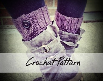 CROCHET Boot Cuff PATTERN: Boot Cuff Crochet Pattern, Boot Topper, Faux Leg Warmers, Boot Cuff Pattern
