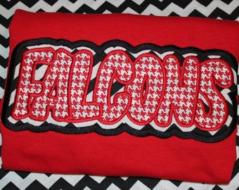 Falcons sports tshirt- you pick colors and fabric for boy, girl, or adult