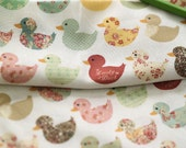 Lovely Floral duck on cotton, U276