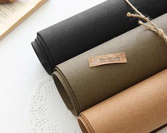 Black Kraft Paper Fabric One Cut, U1062