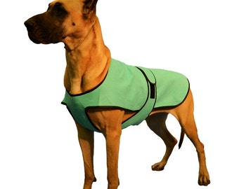 Dog Cool Coat custom made just for your dog with tummy cooler for extra cooling