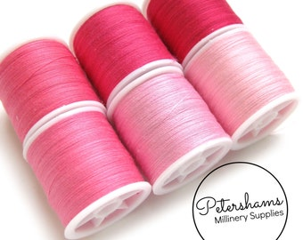 Pink Thread Collection - 6 Shades of Polyester Thread on 100 yard Spools