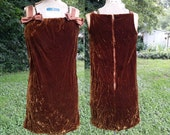 60s Dress, Mini Dress, Velvet Dress, Vintage Dress, Vintage Costume, Party Dress, Brown Dress, 60s Costume, Laugh In Costume, Dress  Size 0
