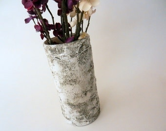 Faux Bois Birch Wood Vase / Made-to-order / Tree inspired Home Decor / Nature Art /  handcrafted vase