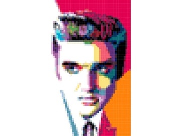Elvis Cross Stitch Pattern ( Printable PDF ) - Immediate Download from Etsy