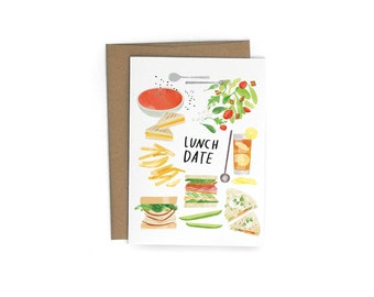 Lunch Date A6 Greeting Card