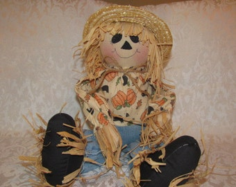 New Primitive Country Handmade 18 inches tall Scarecrow