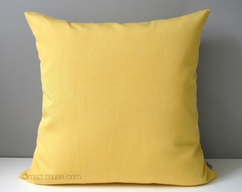 Buttercup Yellow Pillow Cover, Decorative Outdoor Pillow Case, Light Yellow Sunbrella Cushion Cover, Modern Yellow Throw Pillow Cover