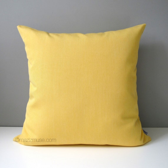 Yellow Throw Pillow Cases : Buttercup Yellow Pillow Cover Decorative Outdoor Pillow Case