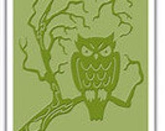 Sizzix Halloween Owl embossing folder