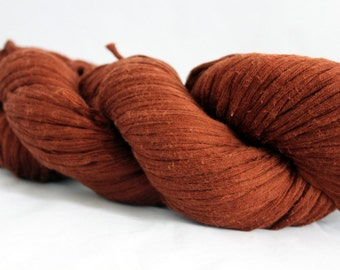 30% off STORE CLOSING SALE Recycled Nut Brown Cotton Yarn, Bulky Weight Yarn - 145 Yards
