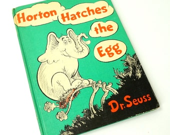 Horton Hatches the Egg by Dr. Seuss 60s Oversized Hc / Vintage Childrens Book