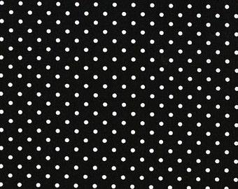 Novelty Fabric by Timeless Treasures Black Basic White Polka Dots Dot on Black