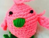 Crochet Amigurami Chicken Stuff Animal Crip Toy Newborn Toy
