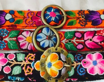 Embroided Wool Belt,  Fashion Fall, Peruvian Embroided Belt , Handmade Belt