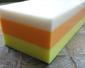 Candy Corn Soap Loaf