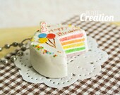 Rainbow Birthday Cake (Pendant)