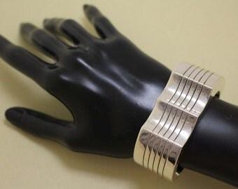Modernist Navajo Bracelet Silver Yellowhorse