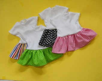 18 inch doll clothes T-shirt dress to decorate, 18 inch doll Party Pack Favors