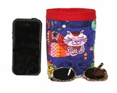CAR CELLPHONE CADDY, The Cats Meow, Multicolor Cats, Sunglasses Holder, Golf Cart Bag, Pool Chair Caddy, Beach Chair Bag