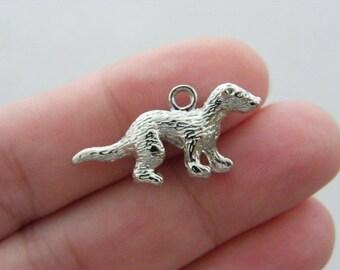 BULK 20 Weasel charms silver tone A49