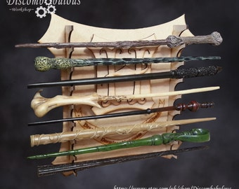 Wall Hanging Wand Stand Kit - *Wands not Included* for witches and wizards.