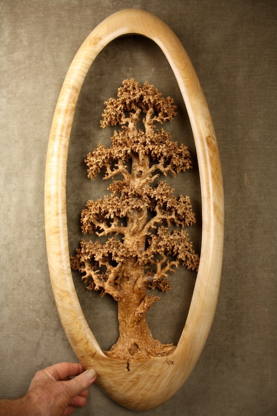 Expensive best of etsy carved wood oak tree by