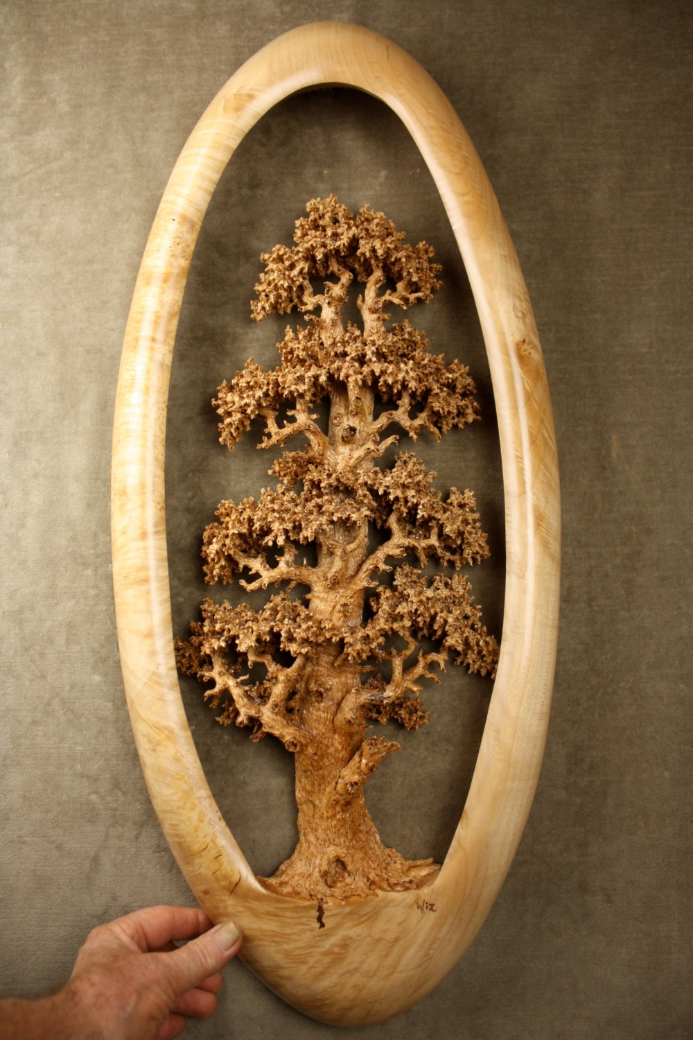 Expensive best of etsy carved wood oak tree wood carving for Best wood to carve with