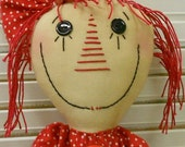 COCA COLA ANNIE Coke Doll Handmade Primitive Raggedy Ann Annie Doll With Tag Hafair