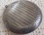 Vintage Compact Engraved Sterling Silver Monogram S. Cottle & Co.