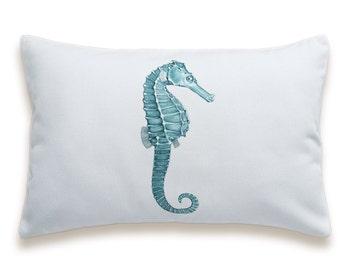 Seahorse Cotton Pillow Cover 12 x 18 inches PRINT DESIGN 45