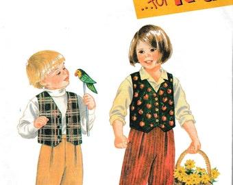 Simplicity 9266 children Vest Pant set Vintage Sew Pattern