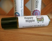 Happy Hippie* Patchouli & Orange Essential Oil Roll on, Roller, All Natural Perfume for him or her, Unisex Scent