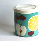 Proctor And Gamble Tin Container Lemon Apple Fruit