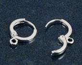 Silver plated small hoop leverbacks (10)