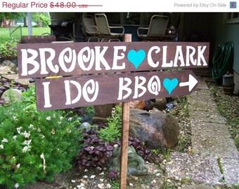 I DO BBQ sign , rustic wedding signs , wedding ceremony, wedding reception , wedding Signage , outdoor wedding , i do bbq decor , party sign