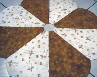 Country Gold Angels Christmas Tree Skirt IN STOCK