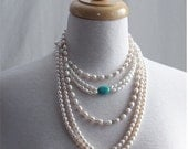 Necklace Freshwater Pearls,  Genuine Three Set Freshwater Pearl Necklace, Gifts for her, Holiday Gifts