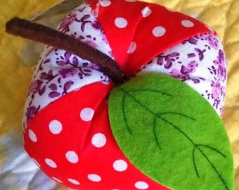 Apple Pin Cushion Large Pin Cushion Polka-dot Pin Cushion