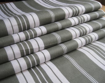 Per yard/90 cm: French vintage linen mattress ticking, great for projects, upholstery, curtains