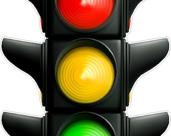 Traffic Light Decal Peel and Stick Repositionable Removable Stop Light Wall Sticker